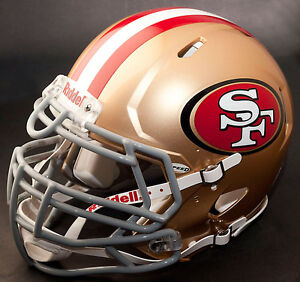SAN FRANCISCO 49ers NFL Authentic GAMEDAY Football Helmet w S3BDU Facemask