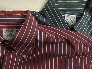 Pair of Brooks Brothers Sport Shirts Sz L Button Collar Front Pocket Excellent!