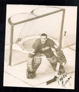 Vintage 1960#x27;s Original Goalie Action Photo Signed by Roger Crozier Red Wings $129.99