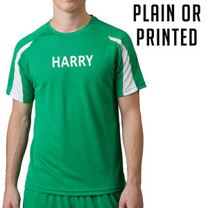 Custom Printed Running T-shirt Personalised Contrast Colours Sports Top (JC003)