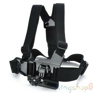 Adjustable Chest Body Harness Belt Strap Mount For Sony Action Cam