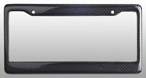 Real 100% Carbon Fiber License Plate Frame Tag Cover Orignal 3K With Free Caps $18.50