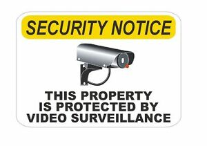 Notice Video Surveillance Sticker D327