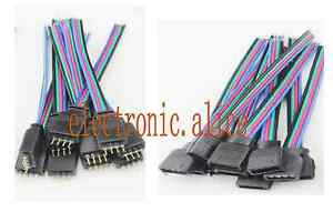 Bulk 4 PIN Female RGB Connectors Wire Cable For 3528 5050 SMD LED Strip Lights