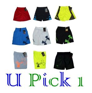 UNDER ARMOUR SHORTS SPORT ATHLETIC ACTIVE PLAY CHILDRENS CLOTHES LITTLE BOYS