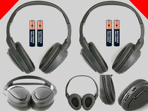 2 Wireless DVD Headphones for GMC Vehicles : New Headsets $39.80