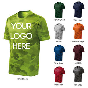 12 Pack One Color Print Custom CamoHex Athletic Dri Fit T Shirts.