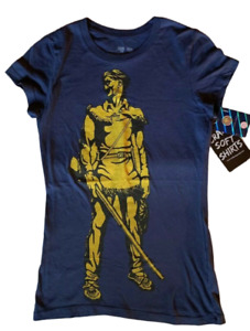 West Virginia Mountaineers Ladies Perfect Fit T Shirt Navy Blue Size Medium $19.99