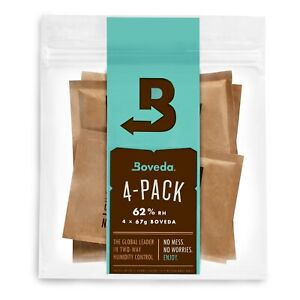 Boveda 62% RH 2 Way Humidity Control Size 67 Protects Up to 1 Lb 4 Count $19.99