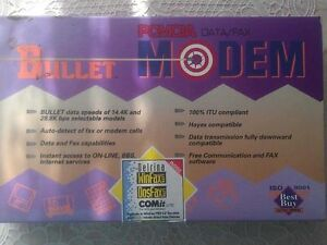 E-Tech Bullet 14.4 PCMCIA DataFax NotebookLaptop Dial-Up Modem BOX