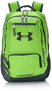 Under Armour Hustle II Backpack Hyper Green - New and FAST Shipping! Stylish bag