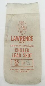 OLD LAWRENCE BRAND CHILLED LEAD SHOT BAG