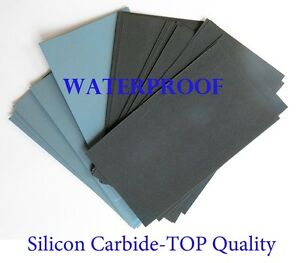 """35 sheets Sandpaper Wet Dry 3""""x 5 1 2 made in Germany 2500 3000 5000 Grit $18.99"""