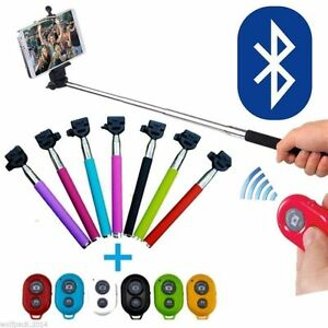 Selfie Stick Bluetooth Remote Shutter Extendable Handheld Monopod For Cell Phone