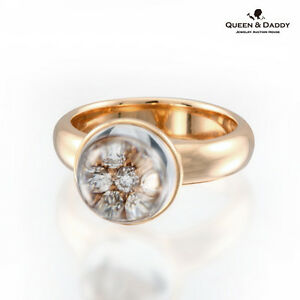 The Secret in the Eye - 18K(750) Rose Gold Quartz Diamond Design Ring for Women