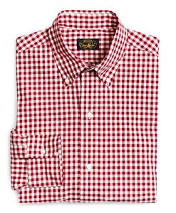 Brooks Brothers Red Own Make Gingham Check Sport Shirt Medium M