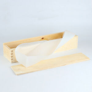 Long Size Silicone Soap Mold Rectangle Mold with Wood Box Swirl Soap Making Tool $13.90