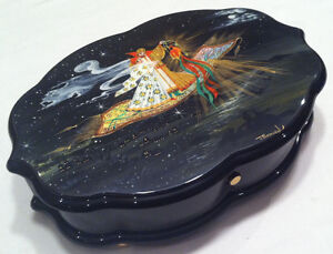 Reuge Music Hand Painted Music Box 3.72 Note Movement-