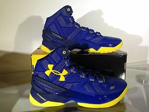 Under Armour UA Curry 2 Dub Nation Two Cobalt Academy Taxi Blue MEN GS YOUTH KID