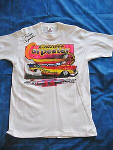 Vintage Drag Race Tee Shirts Autographed Legends Of Racing Sport USA Made #4
