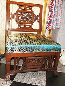 Aesthetic Movement Japanesque Mahogany Chair American Herter Bros Style 1880's