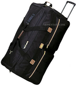 30quot; Polyester Rolling Duffle Bag Wheeled Travel Luggage Suitcase