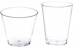 Clear Disposable Hard Plastic Cups- 5 Sizes - Rigid Tumbler Glasses Bar Catering
