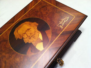 Reuge Music Exclusive G.Verdi Hand Inlaid Music Box With Three Songs 72 Note Mov