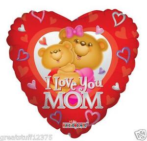 Balloons 18 I LOVE YOU MOM Mylar Foil Mothers Day Party Decorations Gifts