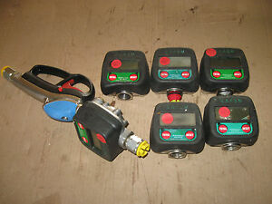 Group of RAASM Oil Gun Digital Meters and Nozzle Handle 1 2quot; 37780 *FOR PARTS* $70.00