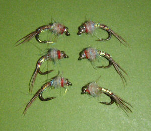 Rainbow Warrior Midge emerger Fly size 18 Hot Tailwater Pattern