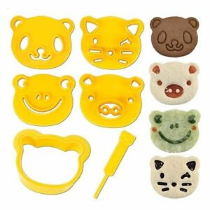 Cookie Cutter Kit Mold Stamp Animal PlayDoh Food Sandwich NEW FREE SHIPPING