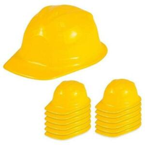 Yellow Construction Hard Hats Kids Birthday Work Zone Party Favors Bag Fillers