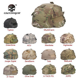 EMERSON MICH Helmet Cover For MICH 2002 with Pouch Army Headwear Hunting Airsolf