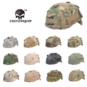 EMERSON Helmet Cover with Pouch for MICH TC-2001 ACH Helmet Tactical Airsoft