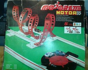 toy motor starter race car track box and 2 cars