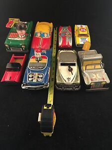 1960 tin toy cars lot of 8 cars japan boys girls