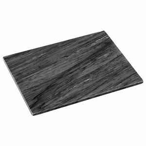 Large Black Marble Chopping Board Hygenic Kitchen Worktop Saver Pastry Slab New