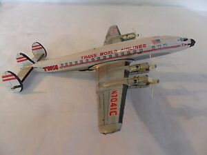 twa constellation tin friction airliner