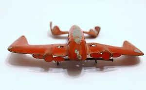 old tin mystery plane pressed steel toy airplane 4