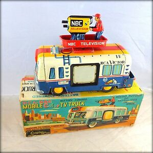 rca nbc mobile color tv truck japan toy with box