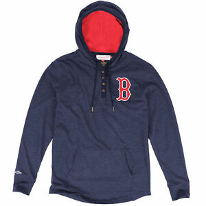 Mitchell & Ness Boston Red Sox Navy Blue Playoff Spot Long Sleeve T-Shirt