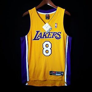 100% Authentic Kobe Bryant Nike Dri Fit Lakers NBA Gold Jersey Size 40 M