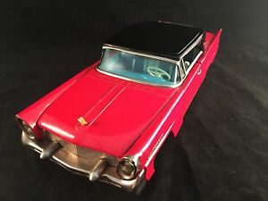 vintage bandai japan 1958 red black lincoln