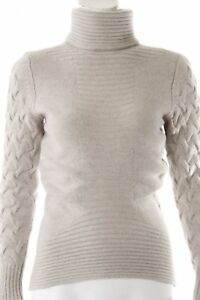 HUGO BOSS woman cable knit turtleneck SIZE EU 36 gray jumper