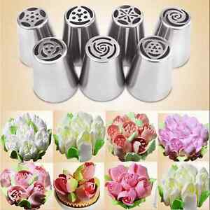 Safety Stainless Steel Nozzles Icing Piping Russian Nozzle Cake Baking Tools CA C $1.17