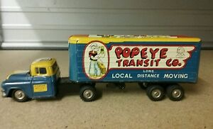 1950 s popeye transit co moving truck rare