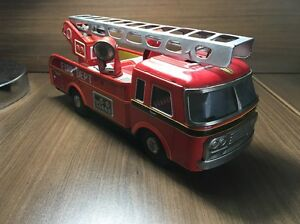 fire truck tin toy made in japan fd 11