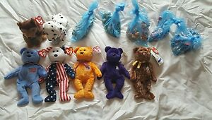 collectible beanie babies including diana