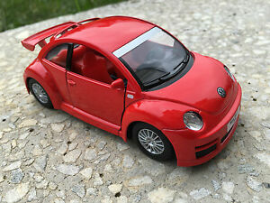 volkswagen new beetle rsi red toy model 1 32